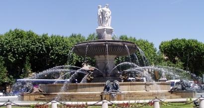 Aix-en-Provence, de fontaines en fontaines