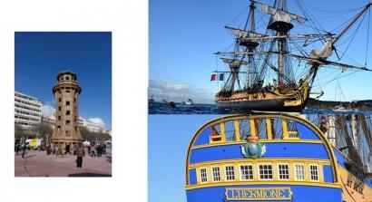 Hermione à Toulon : le démontage du phare avancé à aujourd'hui
