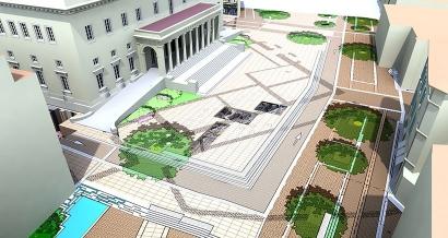 Les fouilles de la Place Verdun seront visibles sous trois vitres