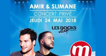 Amir et Slimane en concert gratuit pour 100 personnes à Marseille