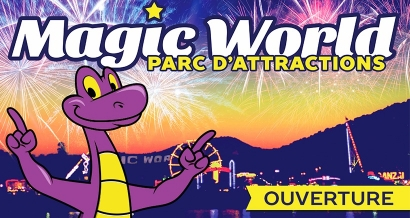 Réouverture du Parc d'attractions Magic World à Hyères : on vous invite !