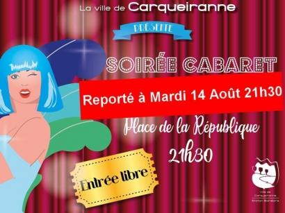 Carqueiranne: la soirée cabaret reportée à demain