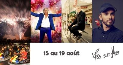 Patrick Sébastien, Sanseverino et Christophe Willem en concerts gratuits & feux d'artifice  ce week-end à Fos