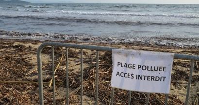Les plages de la presqu'île de St Tropez et de Porquerolles sont interdites au public, le point sur la pollution