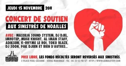 Solidarité Noailles : Imhotep, Massilia Sound System,...en concert au Molotov ce jeudi