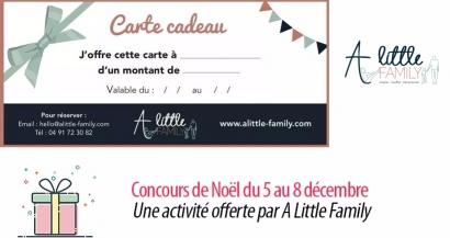 #3 Concours de Noël : une activité offerte par A Little Family