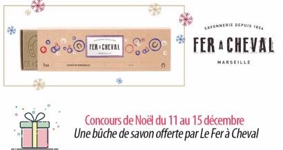 #6 Concours de Noël : une bûche de savon offerte par Le Fer à Cheval