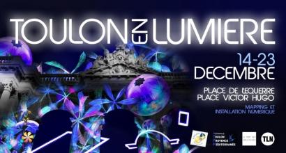 Durant 10 jours, deux places de Toulon vont s'illuminer avec des projections sur les façades et des objets lumineux