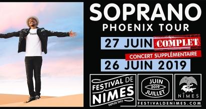 Vous souhaitiez aller voir Soprano au Festival de Nîmes? Bonne nouvelle, il rajoute une seconde date