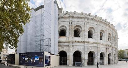 Arènes de Nîmes: un chantier de rénovation colossal