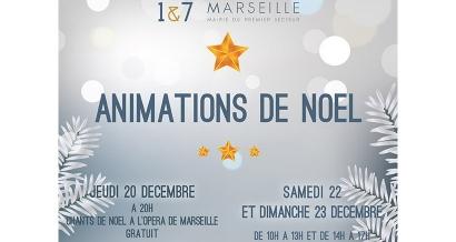 Des animations de Noël dans les 1er et 7ème à Marseille ce week-end