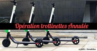 Le déploiement des trottinettes électriques en libre-service prévu demain à Marseille est annulé
