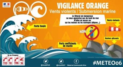 Attention aux fortes vagues: le Var et les Alpes Maritimes en vigilance orange ce vendredi