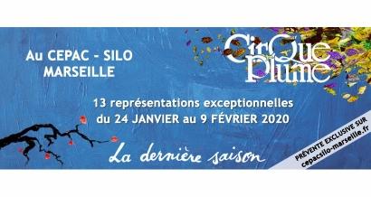 Gagnez vos invitations pour Le Cirque Plume le 19 janvier au Silo Marseille