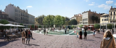 Hyères: la nouvelle place Clémenceau inaugurée le 30 mars