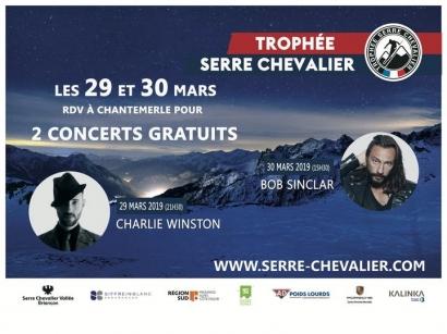 Charlie Winston et Bob Sinclar en concert gratuit ce week-end à Serre Chevalier !
