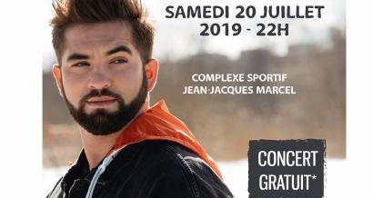 Concert gratuit de Kendji Girac à Brignoles en juillet