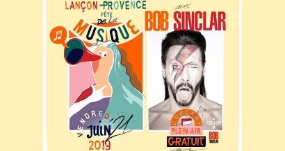 Bob Sinclar en concert gratuit pour la Fête de la Musique 2019 à Lançon-Provence