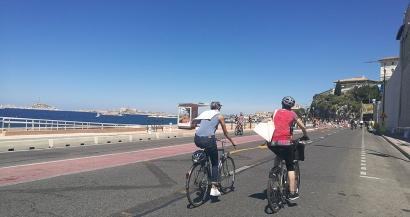 La piste cyclable inaugurée sur la Corniche, bientôt 85km de voies réservées au vélo à Marseille