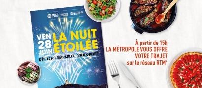 Nuit Etoilée: les transports en commun seront offerts pour venir voir le spectacle du Vieux Port le 28 juin