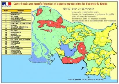 Risques incendie: Sept massifs fermés ce mardi dans les Bouches du Rhône