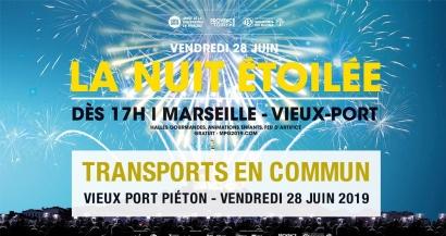 Nuit Etoilée: comment venir en transports en commun sur le Vieux Port de Marseille le 28 juin