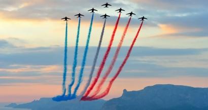 La Patrouille de France fait le show ce vendredi sur les plages de Grimaud