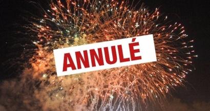 St Victoret: le feu d'artifice de ce soir est annulé