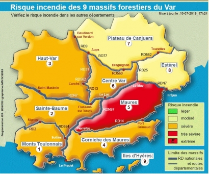 Les balades dans le massif des Maures interdites ce mercredi 17 juillet