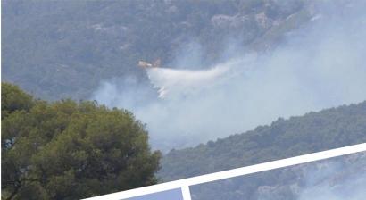 D'importants moyens engagés sur un incendie aux portes de Toulon