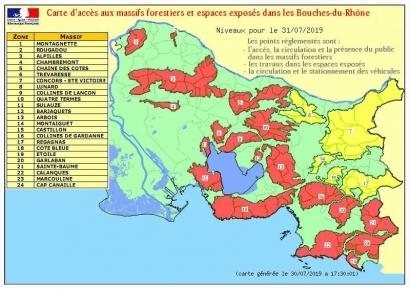 Risques incendie: Les Calanques et 18 autres massifs des Bouches du Rhône interdits ce mercredi