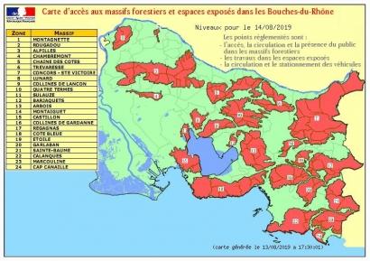 Risques incendie: tous les massifs des Bouches du Rhône interdits ce mercredi 14 août