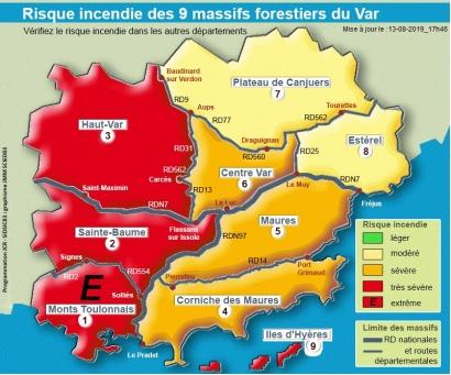 Toulon : Pour la première fois de l'été les massifs toulonnais placés en risque incendie extrême