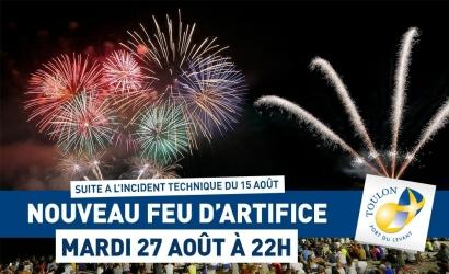 Toulon: le feu d'artifice raté du 15 août sera tiré à nouveau le 27 août