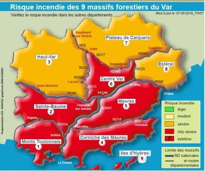 Incendies: Alerte rouge pour six massifs du Var en raison du mistral ce weekend
