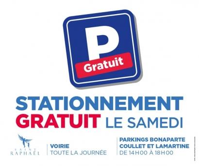 Saint Raphaël: des parkings gratuits le samedi après-midi
