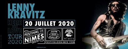 Lenny Kravitz rejoint la programmation du festival de Nîmes