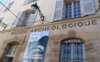 Opération de police en cours dans le musée archéologique de Saint Raphaël. Le suspect est interpellé