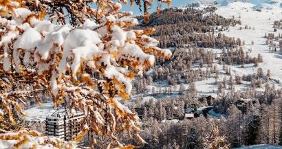 En images: les premières neiges font leur retour dans les stations de ski des Alpes du Sud