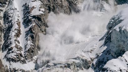 Jusqu'� 1m40 de neige fra�che, le risque avalanche est tr�s fort dans les Alpes Maritimes