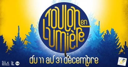 Installation immersive et vitrines interactives avec Toulon en Lumière