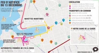 Feu d'artifice du 13 décembre: Les rues fermées à la circulation autour du Vieux Port de Marseille