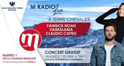 Yannick Noah, Claudio Capeo et Vaimalama en concert gratuit à Serre Chevalier !