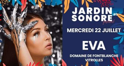 Eva en concert pour la soirée d'ouverture de Jardin Sonore
