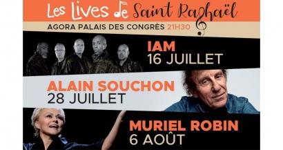 IAM, Souchon et Robin à l'affiche cet été des Lives à Saint Raphaël