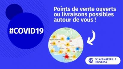 La Chambre de Commerce propose une carte avec 700 commerces ouverts dans les Bouches du Rhône