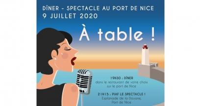 Le Port de Nice Piaf d'impatience: une soirée dîner-spectacle imaginée avec les restaurants du port