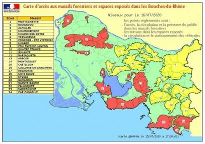 Calanques, Alpilles, Côte Bleue: 12 massifs fermés au public ce jeudi 16 juillet