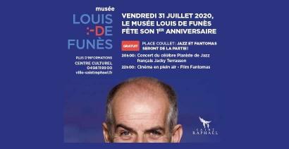 Saint Raphaël: Le Musée Louis de Funès fête ses 1 an avec un concert gratuit et un ciné plein air