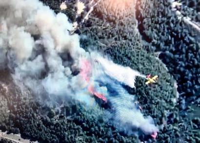 Important incendie au sud de Martigues: la Couronne et Sausset menacés, le feu a rejoint la mer